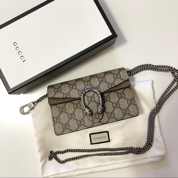 61293432b874ed Gucci Bags | Dionysus Supreme Super Mini Bag | Poshmark